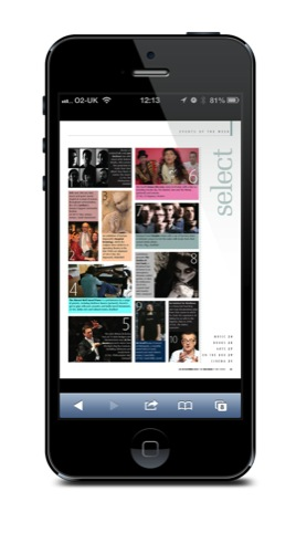 The digital edition on an iPhone