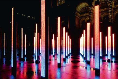 The Volume installation, by United Visual Artists