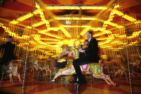 The fairground at the 2012 Design Week Awards