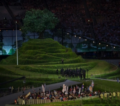 A scene from Danny Boyle's opening ceremony