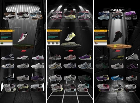 The Adidas Virtual Footwear Wall, by Start JudgeGill