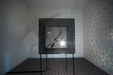 Conrad Shawcross, low Arc Inside A Cube IV, 2009