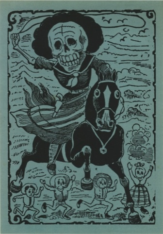 Calavera of the Revolutionary by JG Posada, from Redstone Press' Mexico Macabre: Prints for the Day of the Dead