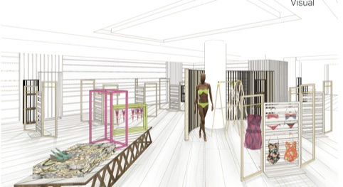 GP Studio Beachwear concept for Selfridges