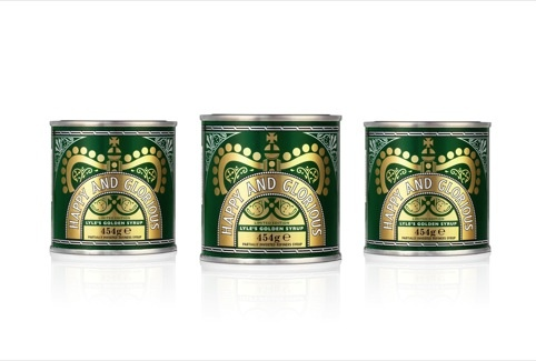 Design Bridge's Happy and Glorious Golden Syrup packaging, for the Queen's Diamond Jubilee