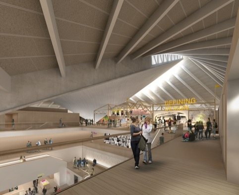 Interior of the Design Museum's future home