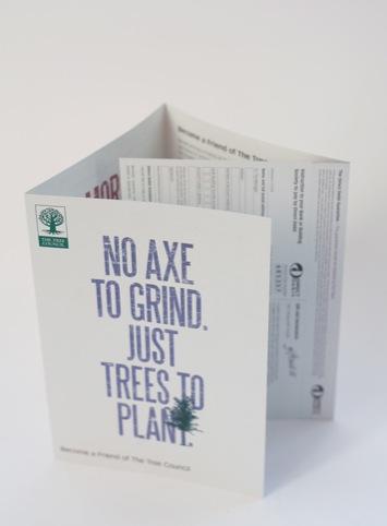 An open leaflet