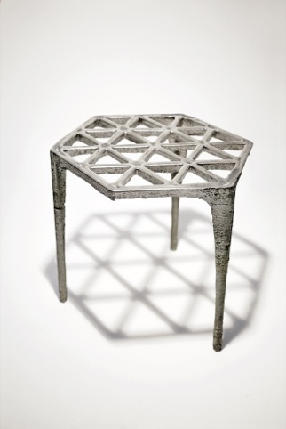 Max Lamb, Hexagonal pewter stool, 2008