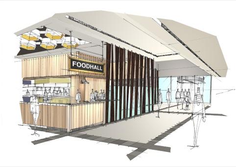 The food hall entrance
