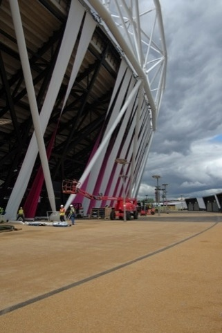 The Olympic Stadium with Sophie Smallhorn's wrap