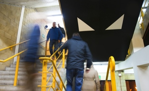 Supergraphics at the Wolverhampton Wanderers stadium