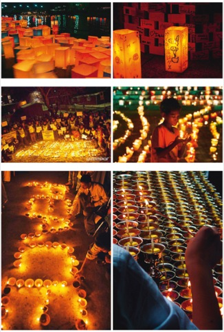 Candle shrines and vigils
