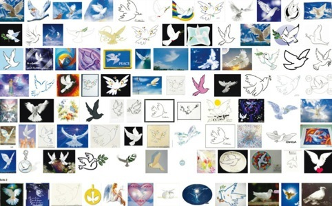 The dove as a symbol of peace