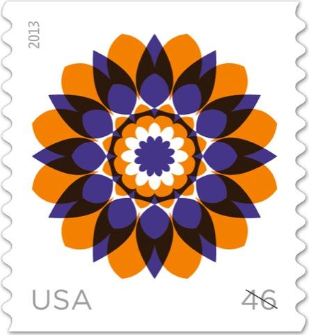 Kaleidoscope Flower stamp