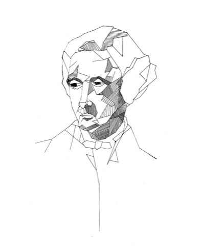 Lewis Carroll portrait by Lefki Savvidou