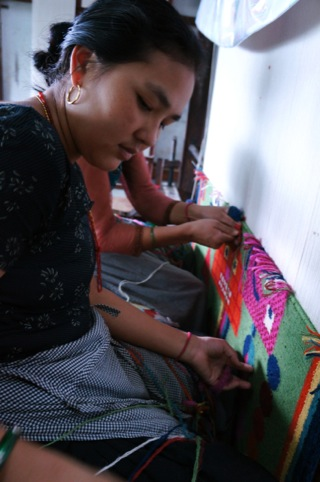 Rug production in Nepal