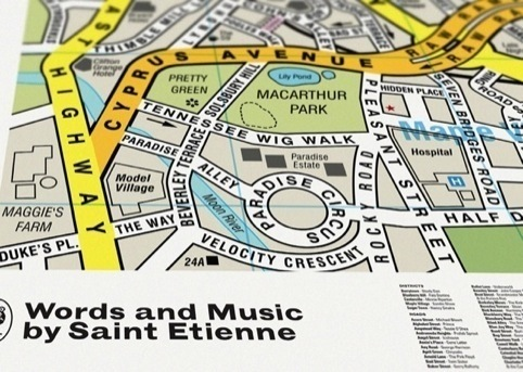 Dorothy's cover for Saint Etienne's Words and Music album
