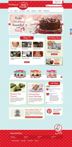The new Betty Crocker website