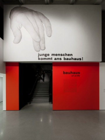 Apfel's graphics for the Barbican Bauhaus exhibition