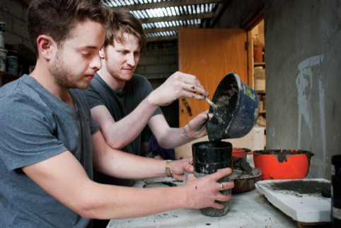 Last years Designers in Residence Harry Trimble and Oscar Medley-Whitfield