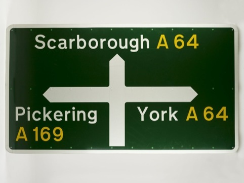 Motorway signage, by Margaret Calvert and Jock Kinneir