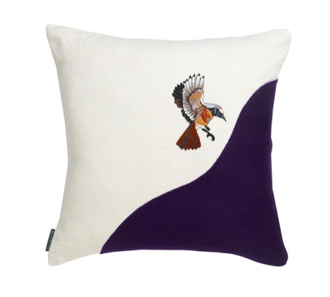 Bird cushion designed by Karen Nicol