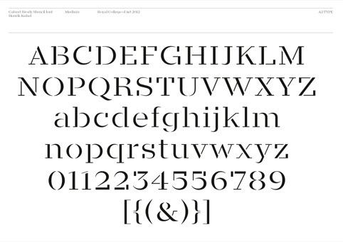 The Calvert Brody typeface