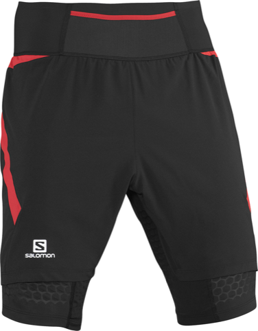 Salomon logo shown on shorts
