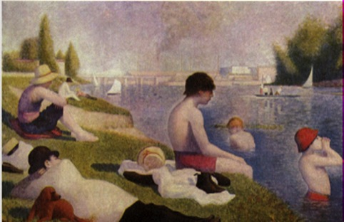Georges Seurat, 1859-1891, Bathers at Asnieres 1884