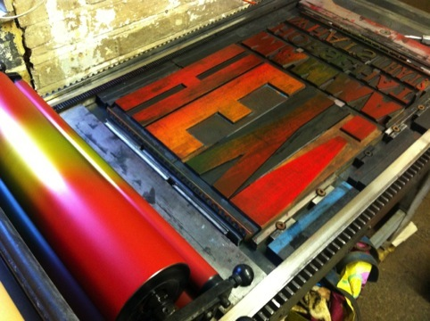 A letterpress in action