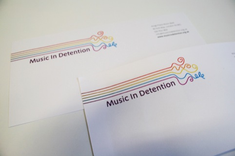Music in Detention compliments slips