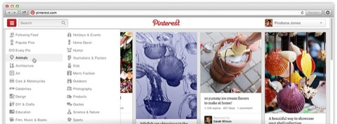 The new Pinterest navigation
