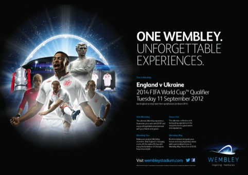 One Wembley Ad designed by Uniform