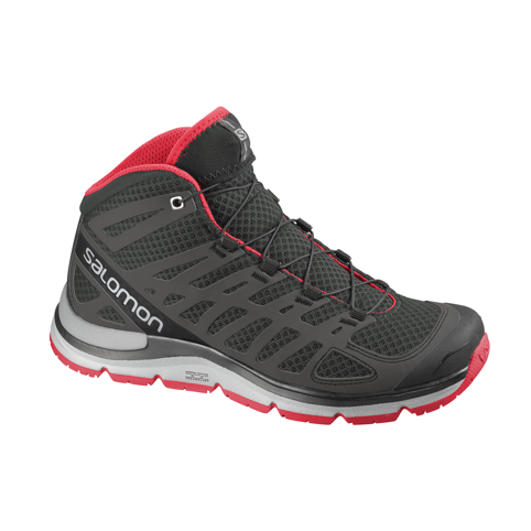 Salomon logo shown on shoe