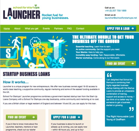 Launcher website