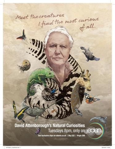 David Attenborough's Natural Curiosities press ad