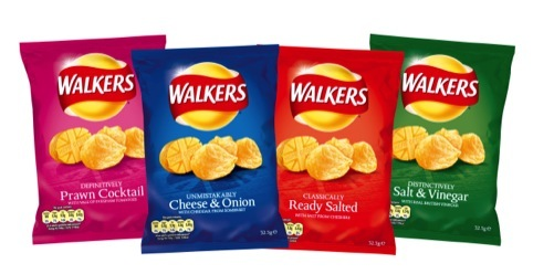 The new look Walkers crisps