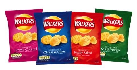 The new look Walkers crisps