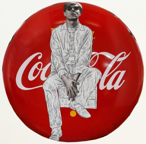 Warhol Sits on Coke Button
