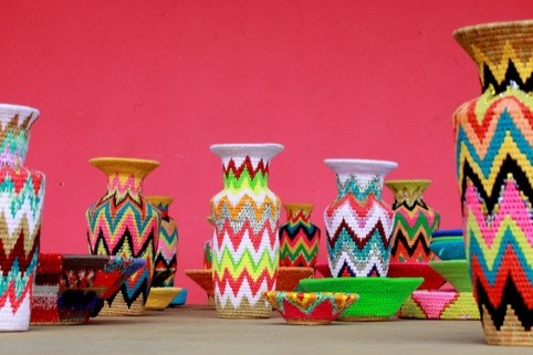 Zig-zag patterned baskets