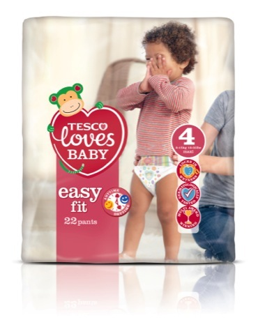 Easy fit nappy packaging