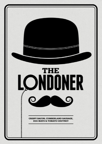 The Londoner sandwich poster