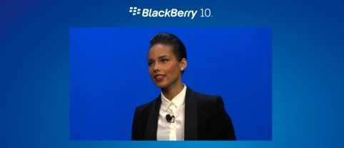 BlackBerry global creative director Alicia Keys at the BlackBerry 10 launch
