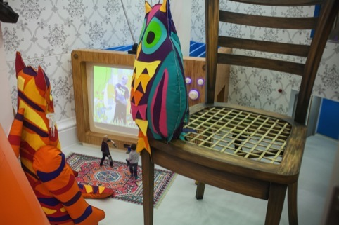 Textile designer Betty Fraser Myerscough has created Eddie The Tiger and Twoo the Wise Owl