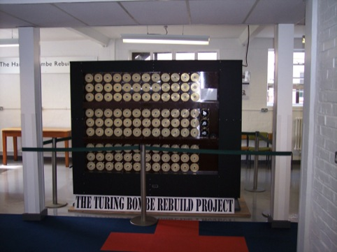 Alan Turing's Bombe code-breaking device at Bletchley Park