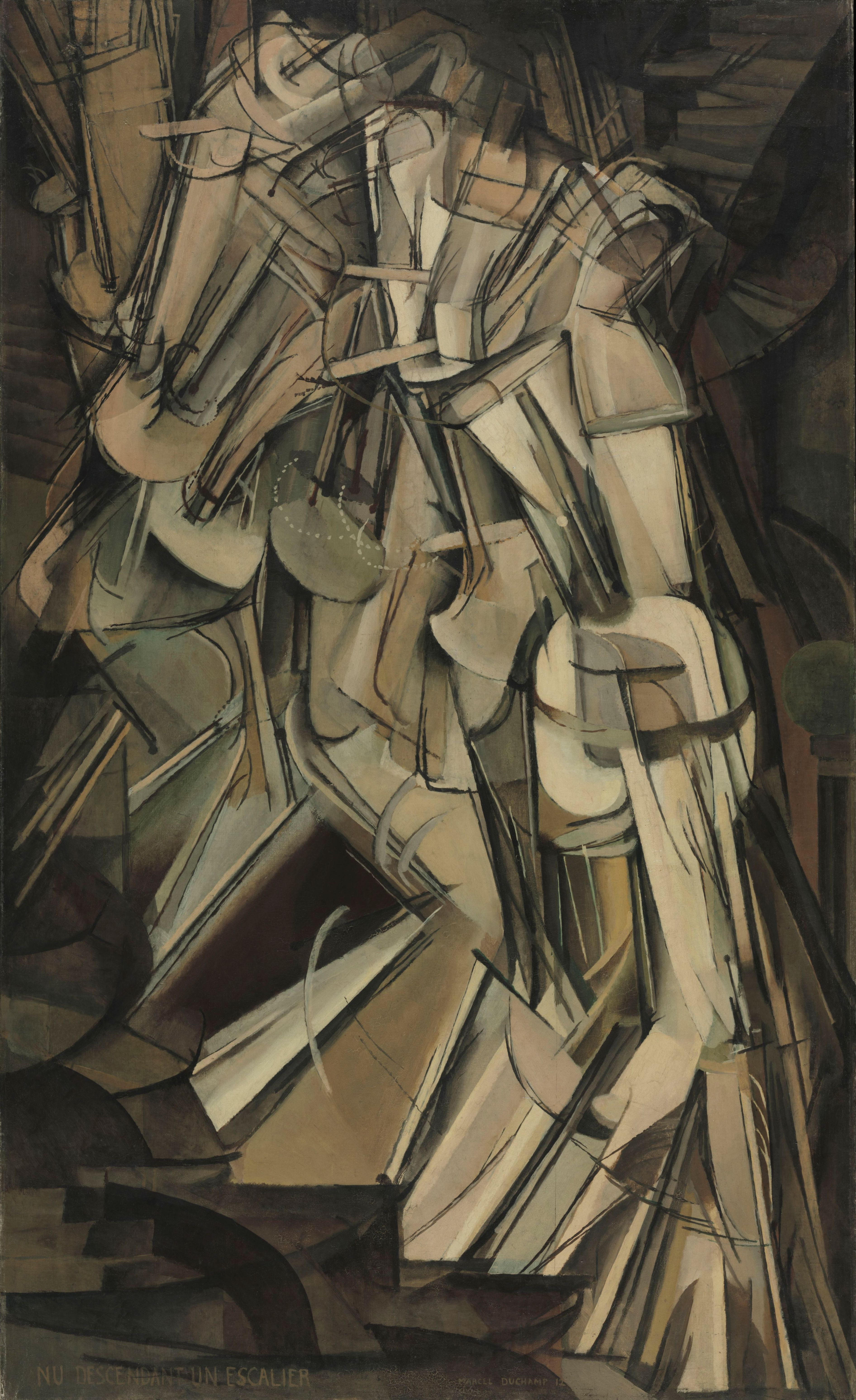 Marcel Duchamp Nude Descending a Staircase (No. 2),1912