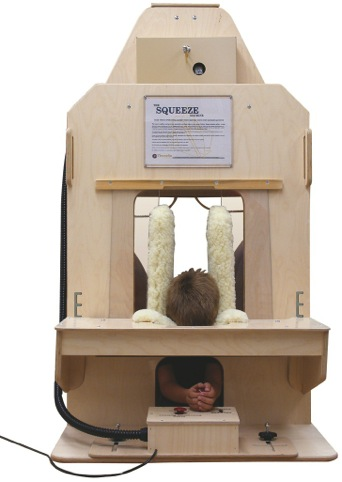 A version of Temple Grandin's Squeeze/Hug Machine
