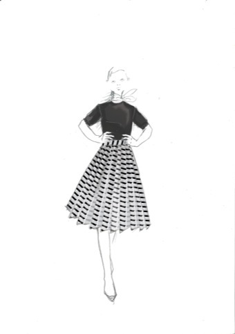 Eley Kishimoto Centre Point skirt design