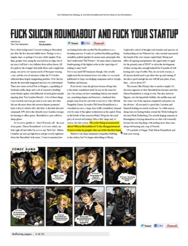 'Fuck Silicon Roundabout, and fuck your start-up'