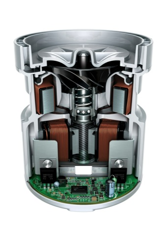 Cutaway of the new Dyson digital motor V4